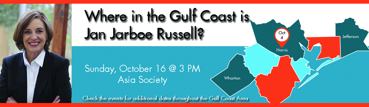 Where in the Gulf Coast is Jan Jarboe Russell?